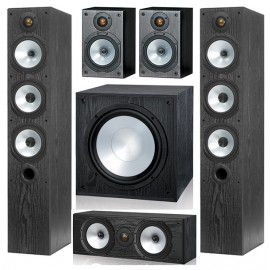 Monitor Audio MR6/MR1/MRcentre/MRW-10 set 5.1 Black