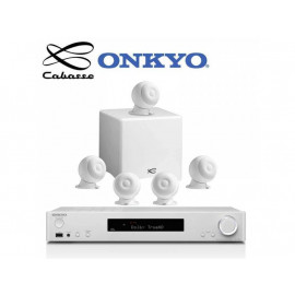 Onkyo TX-L50 White + set 5.1 Cabasse Eole 3 5.1 System WS Glossy White