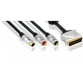 PROFIGOLD PGV 632 Video Interconnect - S-Video+2RCA > SCART M 1.5m