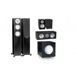 Monitor Audio Silver 200/50/centre150/W12 set 5.1 Black