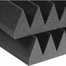 Auralex 2'' Studiofoam Wedges - 2'x4' 12-pack, Charcoal
