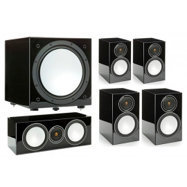 Monitor Audio Silver 50/50/centre150/W12 set 5.1 Black High Gloss