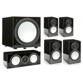 Monitor Audio Silver 100/50/centre150/W12 set 5.1 Black High Gloss