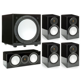 Monitor Audio Silver 100/102/centre150/W12 High Gloss Black