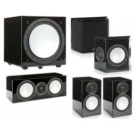 Monitor Audio Silver 100/FX/centre150/W12set 5.1 Black High Gloss