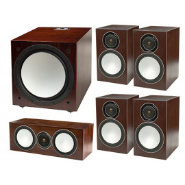 Monitor Audio Silver 100/100/centre150/W12 set 5.1 walnut