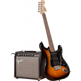FENDER SQUIER STRAT PACK HSS BROWN SUNBURST