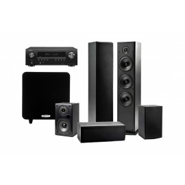 Denon AVR-S650H + Polk Audio Set 5.1 Polk Audio T50/T15/T30/PSW 111 Black