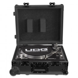 UDG Ultimate Flight Case Multi Format Turntable Black MK2 Plus (Trolley Wheels) (U91029BL2