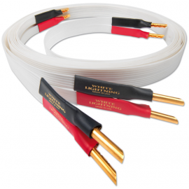 Nordost White lightning, 2x3m is terminated with low-mass Z plugs