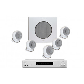 Onkyo TX-L50 White + set 5.1 Cabasse Eole 4 5.1 System WS Glossy White