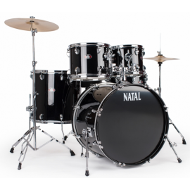NATAL DRUMS DNA US FUSION DRUM KIT BLACK HARDWARE PACK